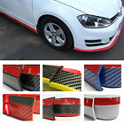Rubber Front Bumper Edge Strip Chin Protection Side Skirts Spoiler Lip - Fits...