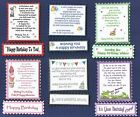 6 GENERAL BIRTHDAY  Greeting Card Verse Toppers W/WO Matching Sentiment Banners