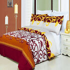 Luxury White Yellow Bronze Burgundy Mission Pattern Egyptian Cotton Duvet Cover