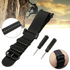 Watch Band Nylon Strap Replacement 5-Ring Lugs Adapters Kit For Suunto Core