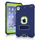 Shockproof Hybrid Rubber Heavy Duty Stand Case Cover for Apple iPad Mini 1/2/3