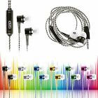 New 3.5mm Jack With Mic Bass Stereo In-Ear Earphones Headphones Headset Earbuds