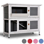"""Lovupet 40"""" Wooden Rabbit Hutch Small Animal House Pet Cage Chicken Coop 0323L"""