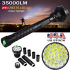35000LM 24x XML T6 LED Flashlight 5 Modes Tactical Torch 26650 18650 Lamp Light