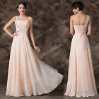 Sexy Chiffon Bridesmaid Dress Long Maxi Beads Evening Prom Cocktail Party Gown