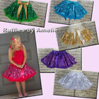 Baby Girls Sequin Tutu Pettiskirt in Gold, Purple, Green, Silver and Turquoise.