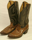 VINTAGE TONY LAMAS MEN'S BROWN COWBOY BOOTS SIZE 10