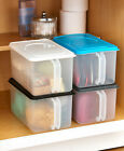 Bulk Food Storage Handled Container Pantry Bin Coffee Cereal Sugar Airtight