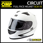 NEW! SC611E OMP CIRCUIT HELMET FULL FACE KARTING / TRACK DAY / RALLY / BIKE