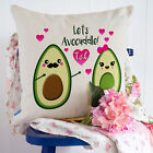 Personalised Avocado Initial Couple Love Valentines Cushion Cover Him Her Gift
