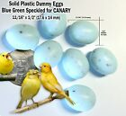 CANARY DUMMY EGGS STOP LAYING! 3 4 x 1 2 in Plastic Light Green Fake Bird Eggs