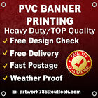 OUTDOOR BANNER ADVERTISING SIGN DISPLAY, PVC VINYL BANNERS - FREE Postage