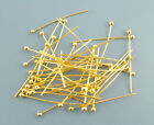 Gold Ball End Head Pins 25mm,30mm and 40mm Jewellery Making