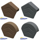 Manthorpe Gable Apex Roof Tile Plastic End Caps Round / Angled / Grey / Brown