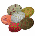 wh+6 Plant Leaf Pattern Round Cotton Cushion Cover/Pillow Case Custom Size