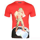 Mens Red World Soldiers Designer Tee Shirt Limited Edition
