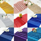 "12"" x 72"" Choose Color Sparkly Sequin Table Runners for Wedding Table"