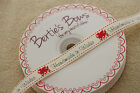 "Bertie's Bows 16mm Ivory Grosgrain ""Made In Wales"" with Red Dragon Ribbon Labels"