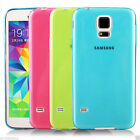 Samsung Galaxy S5 SV i9600 Slim Thin Rubber Soft Skin Case Cover Protector