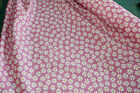 White daisy on pink background / material  100% cotton poplin fabric 112cm wide