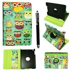 Leather Flip 360° Rotating Smart Stand Case Cover For Samsung Galaxy Tab+Stylus