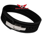 Weight Power Lifting Leather Lever Pro Belt Gym Training Powerlifting Black