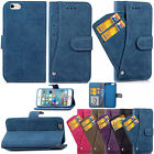 Card Holder Wallet PU Leather Stand Shockproof Case Cover For iPhone 6 6s 7 Plus