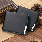 Mens Bifold Business Leather Wallet #A Card Holder Coin Pocket Money Purse Bag