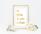 To Glam to give a damn Gold Foil Print Vintage Foil Rose Gold Wall Art