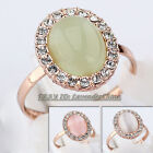 B1-R672 Fashion Rhinestone Simulated Opal Ring 18KGP Crystal Size 5.5-9