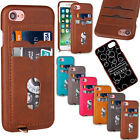 Slim Wallet Leather Thin Back Case with 2 Card Pocket For Apple iPhone 7 4.7''