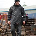 Scruffs Rain Jacket and Waterproof Trousers Black or hi vis 2 Piece Rain Suit