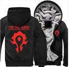 For World of Warcraft Winter Zipper Coat Hoodie Thickness Jacket Sweatshirts
