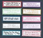 12 HAPPY BIRTHDAY Greeting Card Craft Scrapbook Sentiment Banners*Colour Options