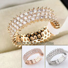 E2-R011 Fashion Micro Inlays Band Ring 18KGP Crystal Size 5.5-8
