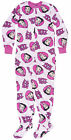 Betty Boop All Over Fleece Pajama PJ Lounge Sleepwear Bed Sleep Footsie Pink $18.72 USD
