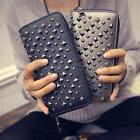 Kyпить Women Leather Rivets Clutch Card Holder Long Zipper Wallet Purse Handbag Satchel на еВаy.соm