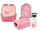 SET Kindergartenrucksack Happy Knirps® mit Name Motiv Kinderrucksack Brotdose
