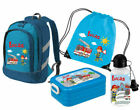 Set Children's backpack Bicolor with name and custom motif mit Reflectors School