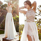 Lace Women Long Chiffon Bridesmaid Evening Party Cocktail Dress Gown Prom Dress
