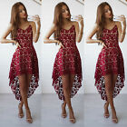 Fashion Women Summer Sleeveless Lace Evening Party Cocktail Short Mini Dress #A