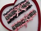 NEW Mossy Oak Camouflage Camo Baby Light Pink Black  Wedding Garter Prom Deer