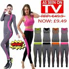 New Ladies Women 2PC YOGA Sportswear Workout GYM Fitness Sports Running Full Set