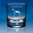 Harlequin Great Dane Dog Lover Gift Personalised Engraved Whisky Glass