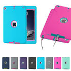 Shockproof Hybrid Heavy Duty Rubber Hard Case Cover For Apple iPad Air Mini 2 3