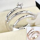 A1-R143 Fashion Snake Ring 18KGP Rhinestone Crystal Size 5.5-9