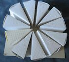 """Embossed Cake Slice Box Centerpiece 10 1/2"""" Wide Package of 12 Cake Slice Boxes"""