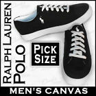 Ralph Lauren Polo MENs BLACK Canvas Sneakers Tennis Deck Brisbane Shoes Trainers