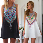 Lady\'s Summer Casual Sleeveless Evening Party Cocktail Beach Short Mini Dress