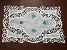 "T64 Handmade Craft Organdy Applique 11""x18"" Table Runner Placemat"